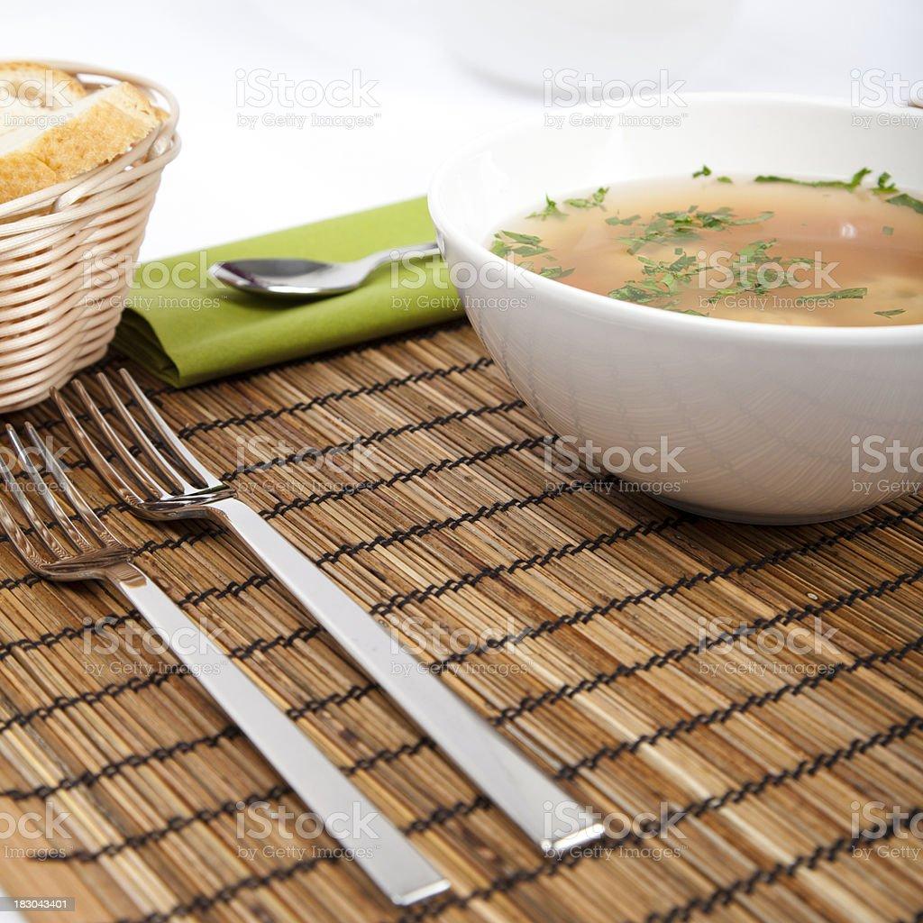 Dumpling soup royalty-free stock photo