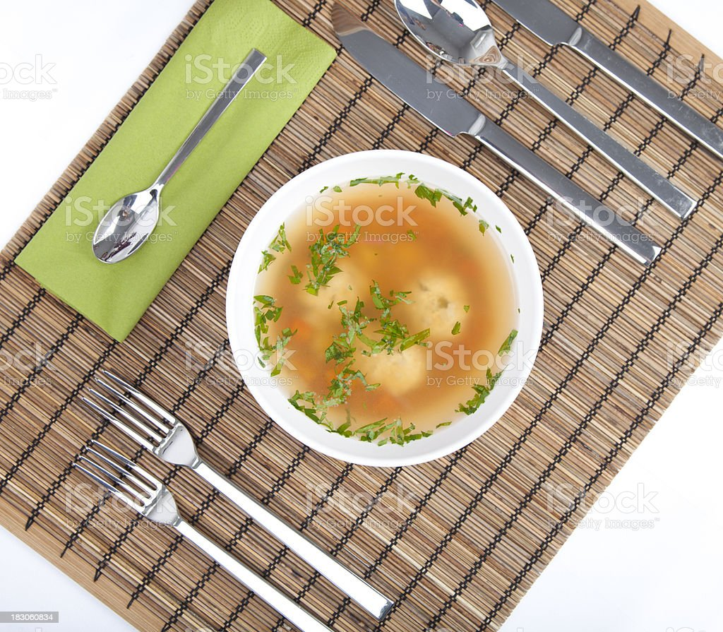 Dumpling soup royalty-free stock photo