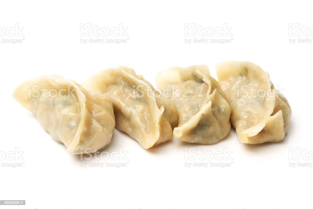 Dumplings in a white background stock photo