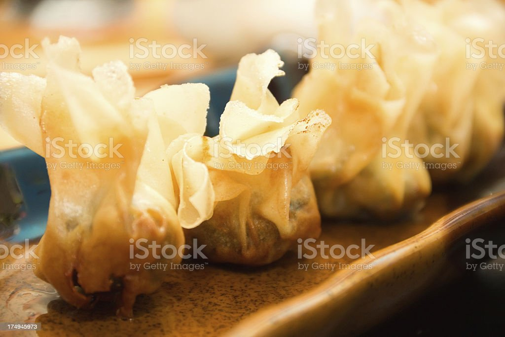 dumplings on a plate royalty-free stock photo