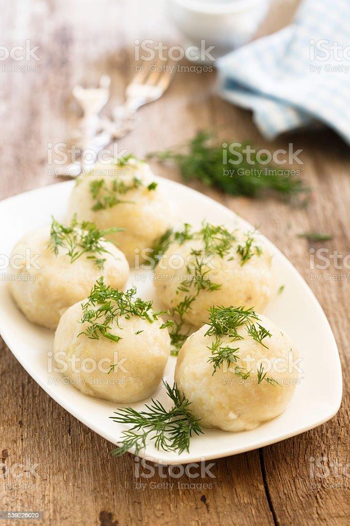 Dumplings stock photo