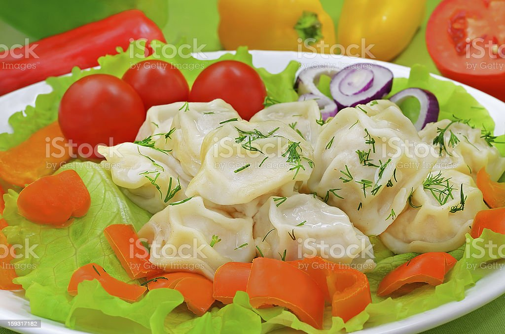Dumplings with meat royalty-free stock photo