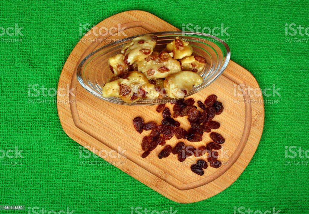 Dumplings with raisins royalty free stockfoto