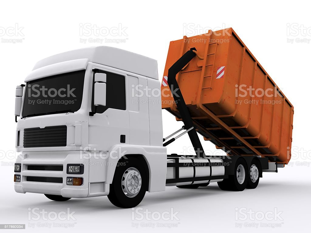 Dumpster Container stock photo