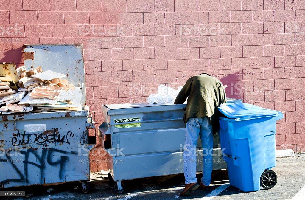 Dumpster Mining royalty-free stock photo