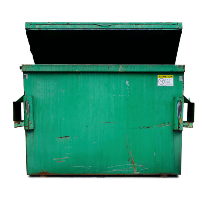 Dumpster isolated on white clipping path is included.
