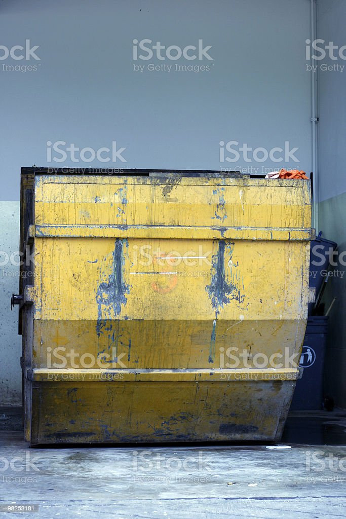 Dumpster royalty-free stock photo