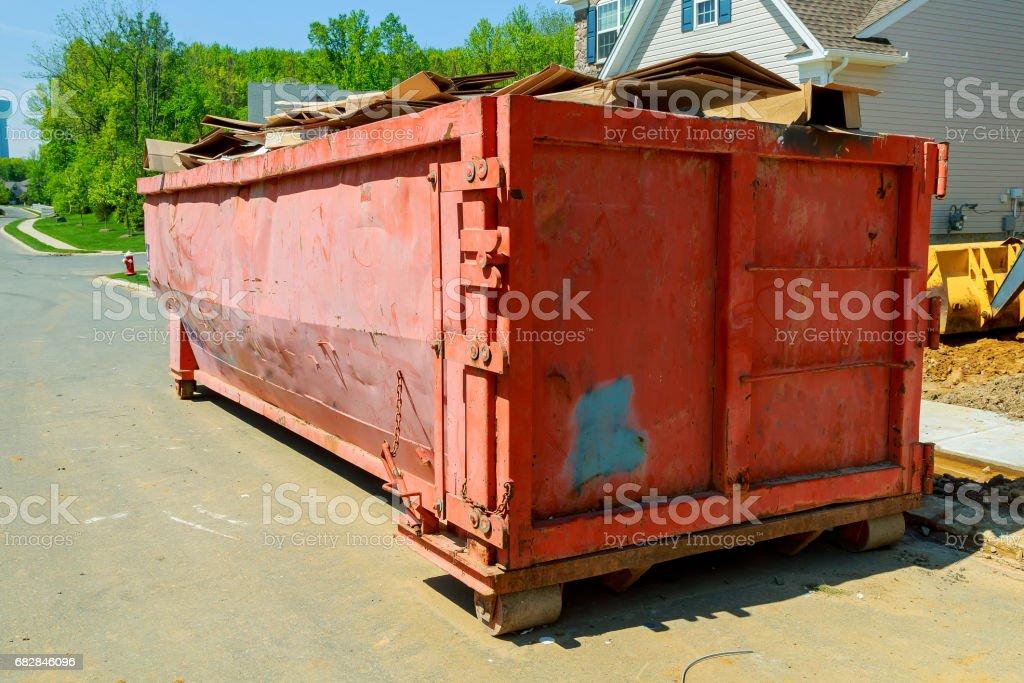 Abfalleimern erinnern noch heute an dieses Ereignis, komplett mit Müll Lizenzfreies stock-foto