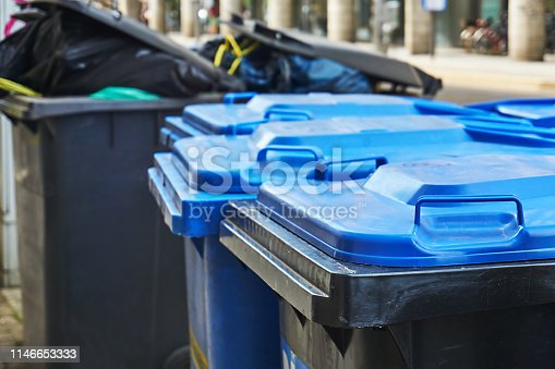 Dustbins on the street