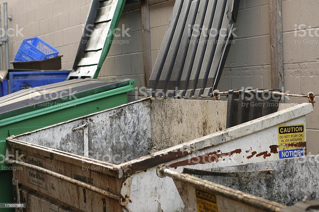 Dumpsters royalty-free stock photo
