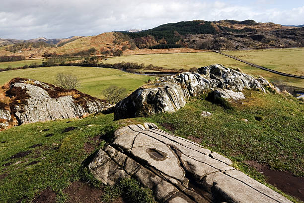 Dunadd Summit stock photo