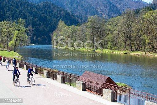 969439086 istock photo Dunajec River Gorge, bike path on the banks of the river, Szczawnica, Poland 1222540455