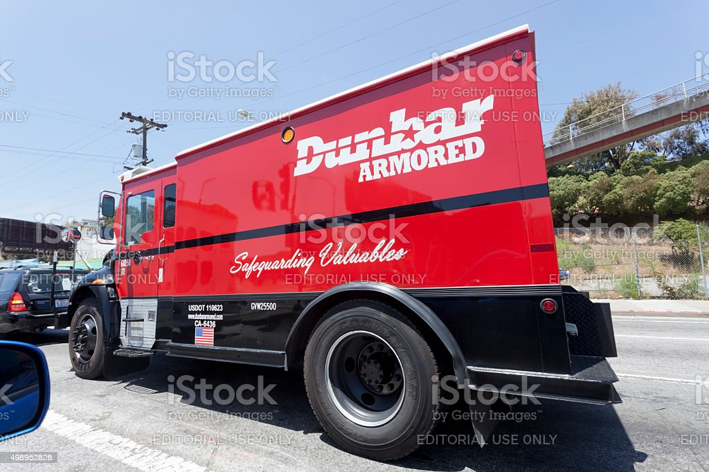 Dunbar Armored Truck stock photo