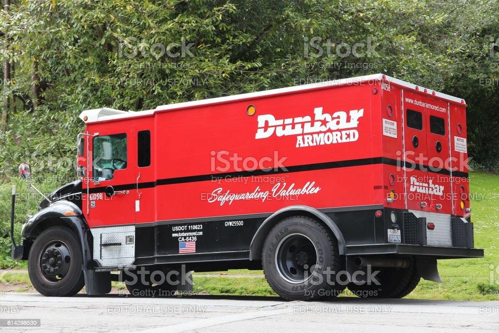 Dunbar Armored vehicle stock photo