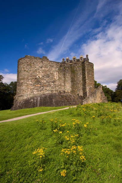 Dunbeg, Oban, Argyll and Bute, Scotland – August 5, 2011: Dunstaffnage Castle stock photo