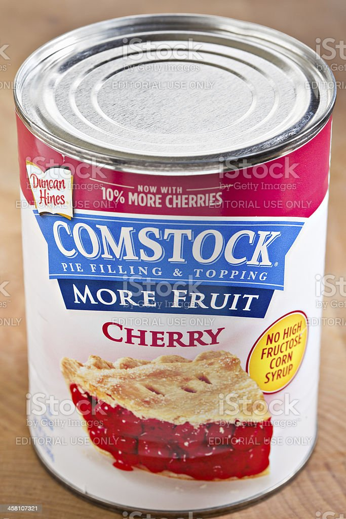 Duncan Hines Comstock Pie Filling & Topping royalty-free stock photo