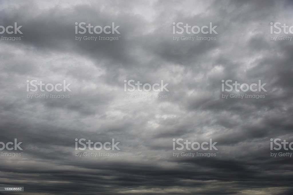 Dunckle clouds royalty-free stock photo