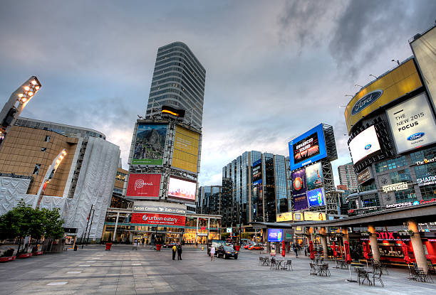 Dundas Square Yonge Street Toronto stock photo