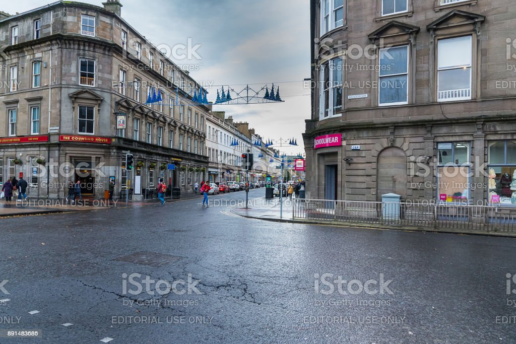 Dundee City Centre stock photo