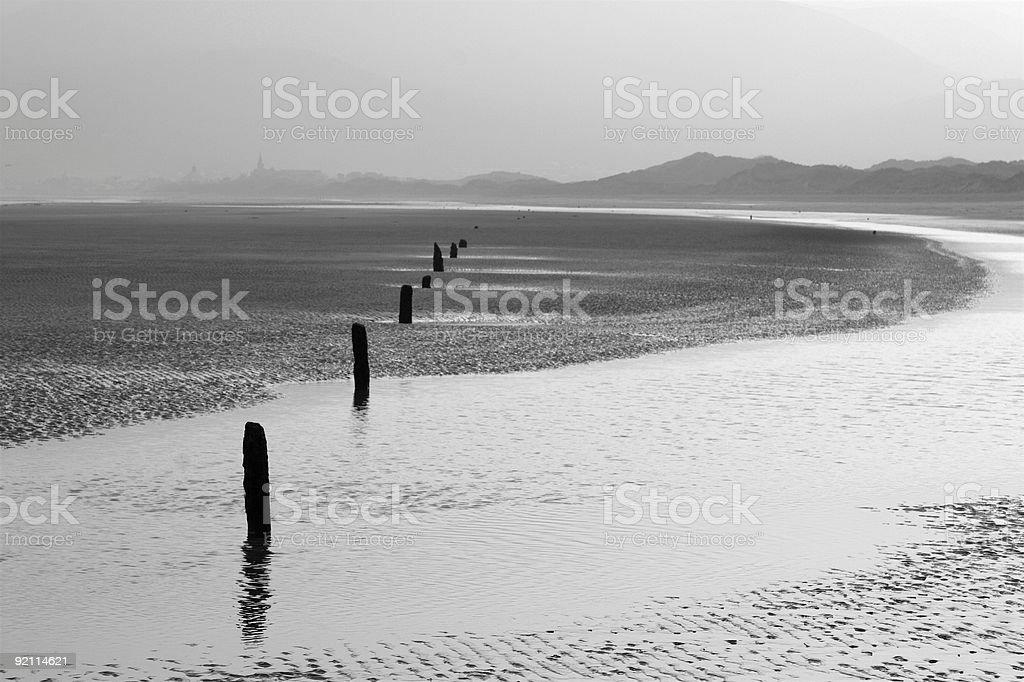 Dundrum bay, Ireland stock photo