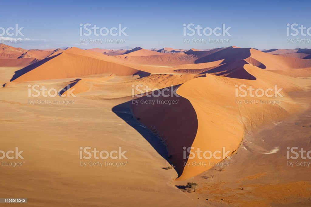 Dune 45 Nambia Aerial View Sea Of Sand Dunes Sossusvlei