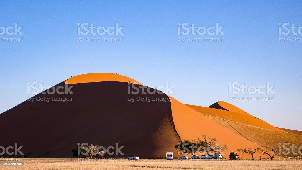 Dune 45 near Sesriem, Namibia stock photo