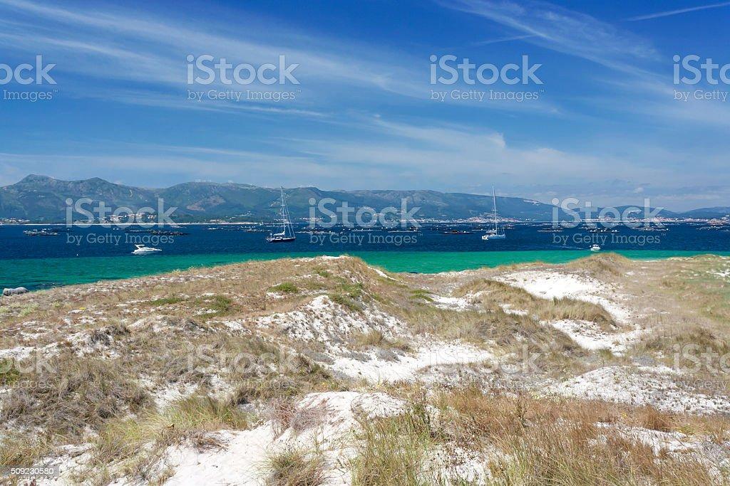 Duna una de las embarcaciones en Areoso Isla - foto de stock