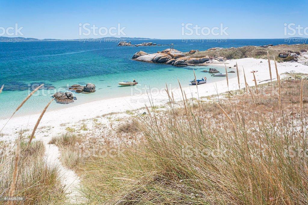 Dune and beach in Areoso island - foto de stock