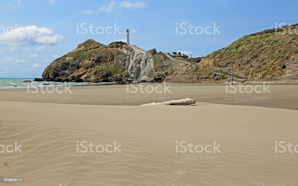 Dune and Castlepoint stock photo