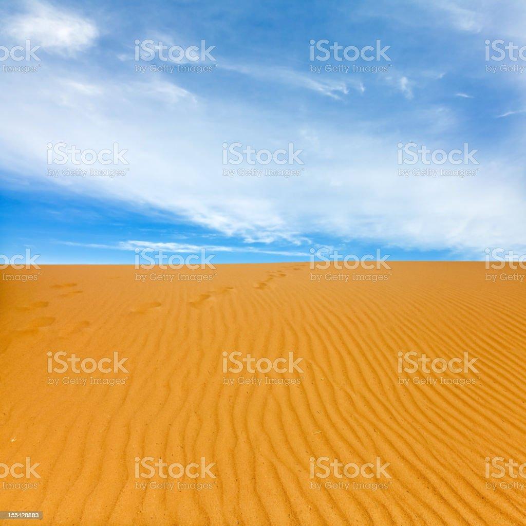 Dune and sand textures in Badain Jaran Desert stock photo