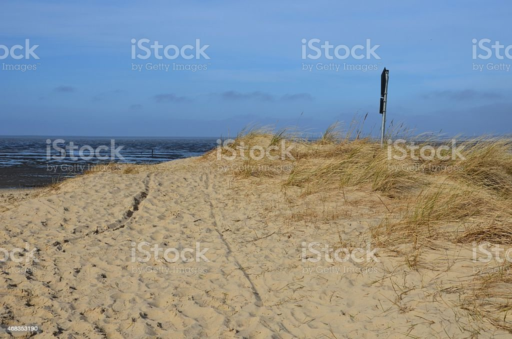 dune at the North Sea royalty-free stock photo
