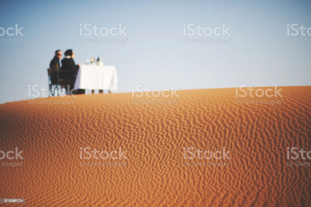 Dune Breakfast for two stock photo