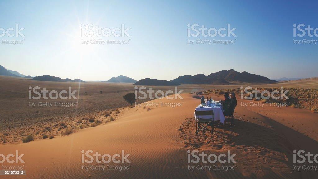 Dune Breakfast Scene stock photo
