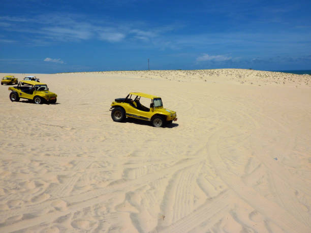 Dune buggies in Cumbuco, Ceara' stock photo