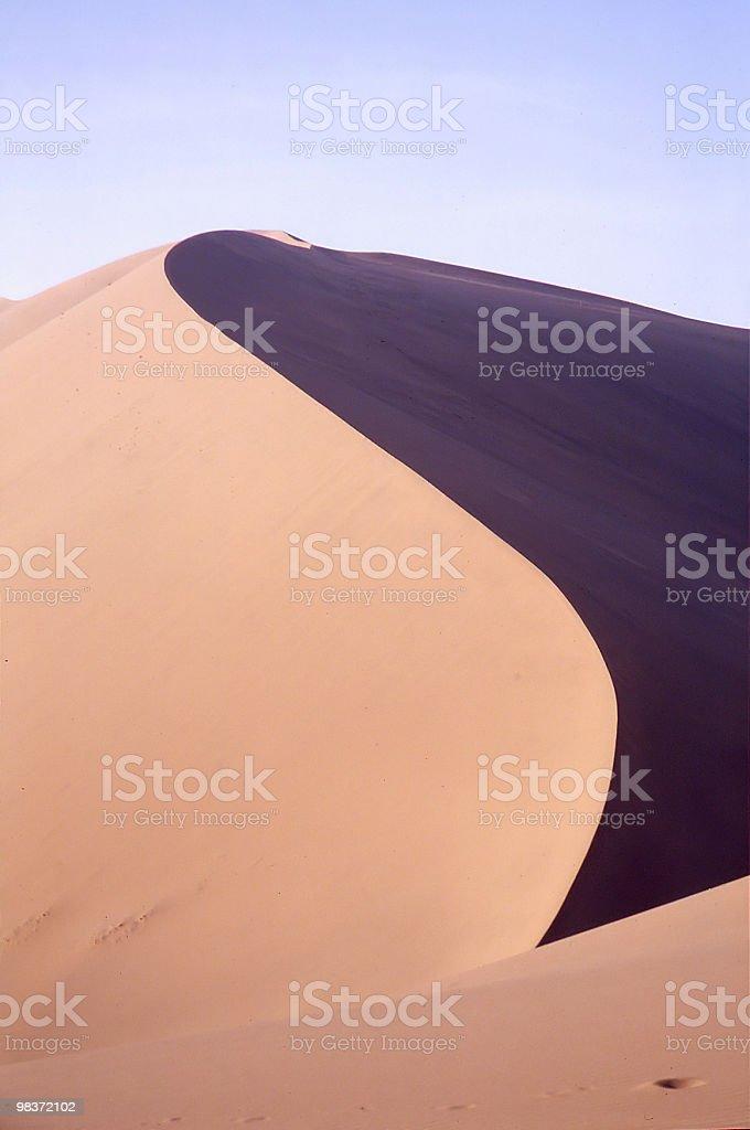 Curva di duna foto stock royalty-free