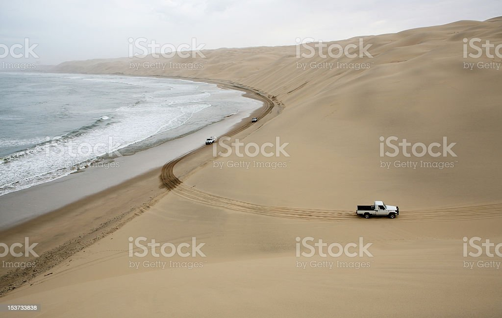 dune driving stock photo
