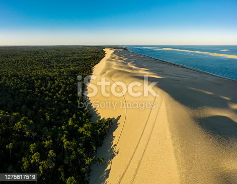 Dune du Pilat at sunrise Pyla-sur-Mer Arcachon France