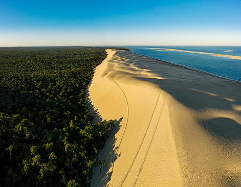 Dune du Pilat at sunrise Pyla-sur-Mer Arcachon France