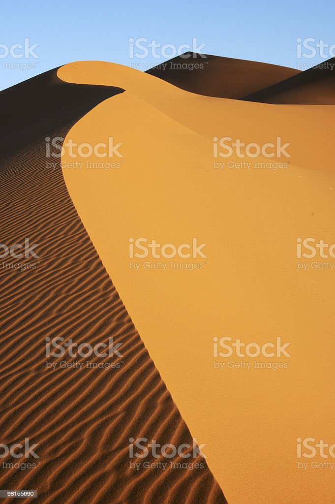 Dune edge in sea of sand royalty-free stock photo