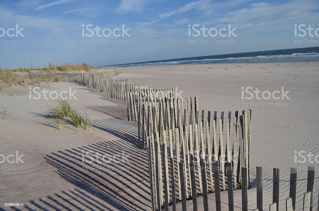 Dune Fence stock photo