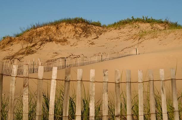 Dune Fencing stock photo