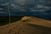 Fantastic views in the early Morning of europes biggest Sanddune near Arcachon
