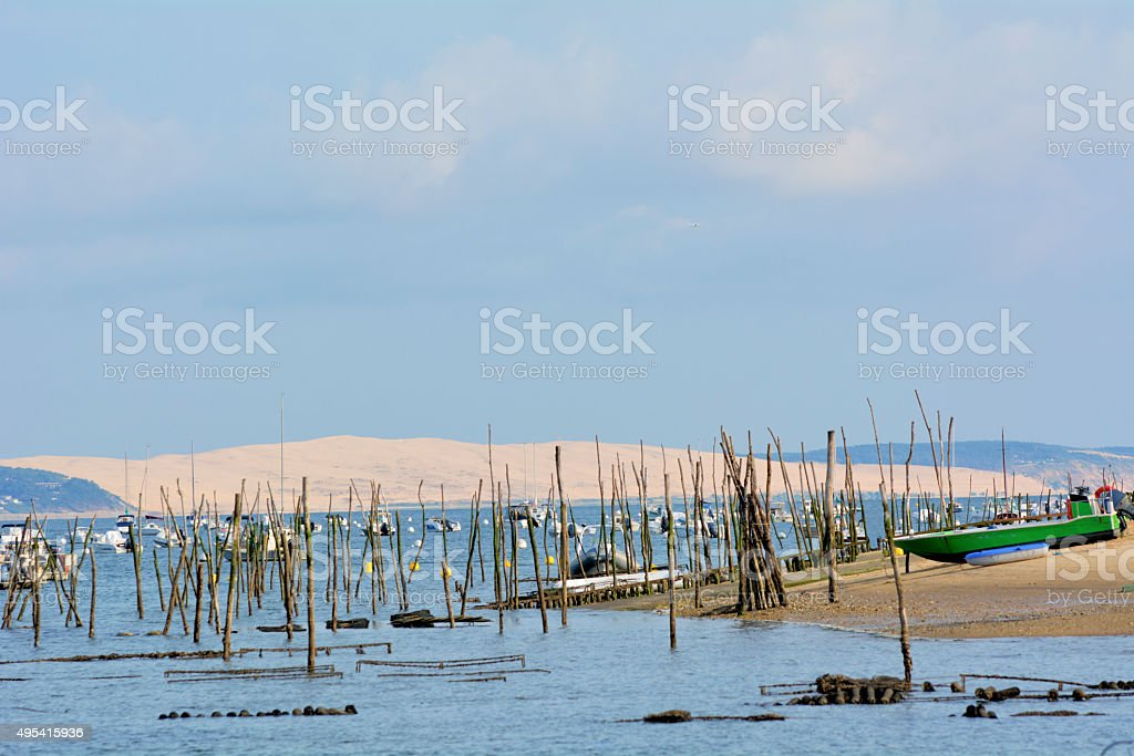 Dune of Pilat stock photo