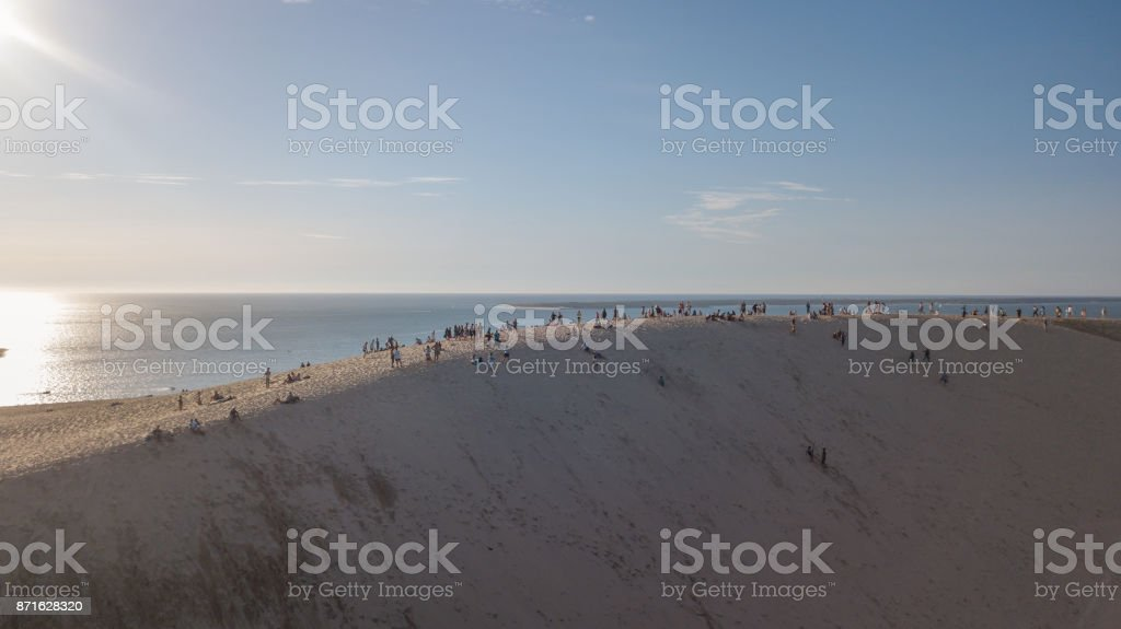 Dune Of Pyla Aerial View stock photo