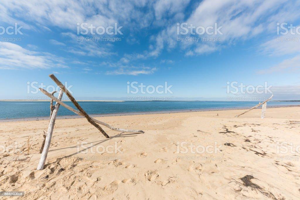Dune of Pyla (Arcachon Bay, France), the beach royalty-free stock photo