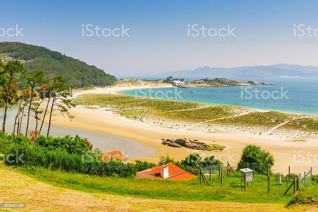 Dune of Rodas beach stock photo