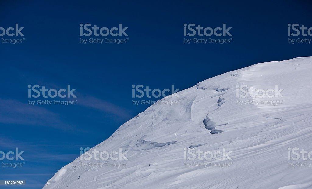 Dune of snow stock photo