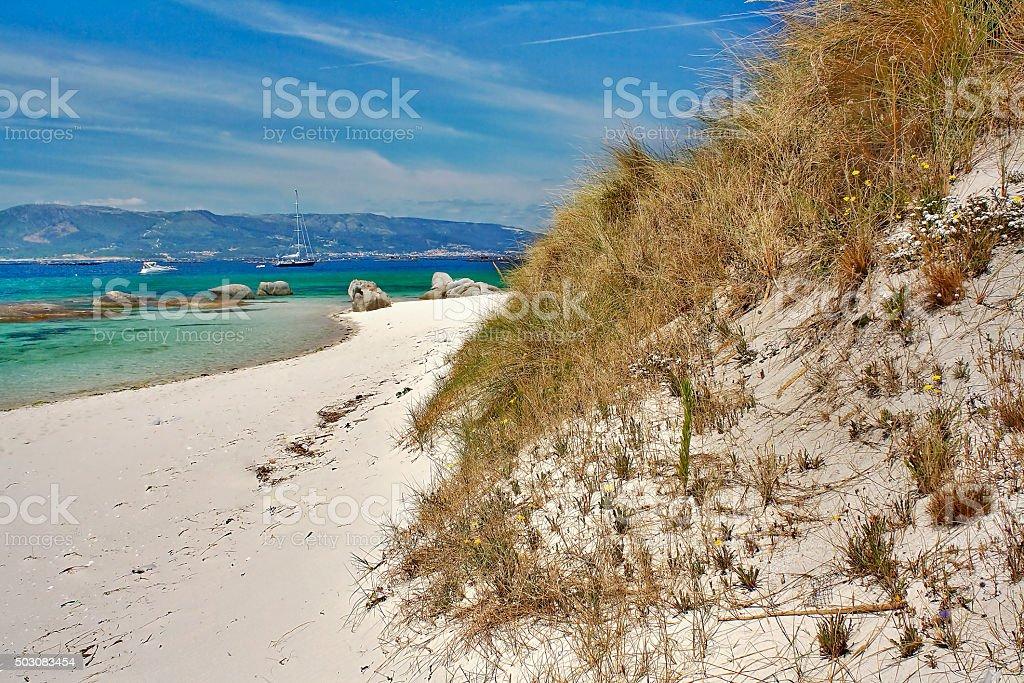 Dunas en Areoso island - foto de stock