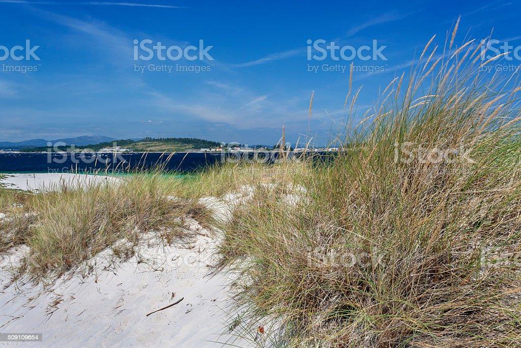 Dunas en Areoso Isla - foto de stock