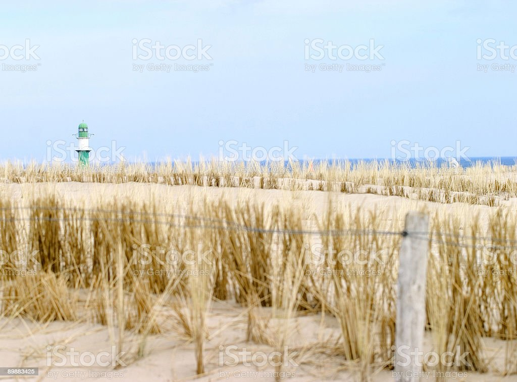 Dune with Lighthouse royalty-free stock photo